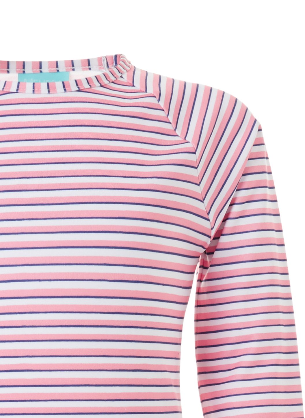 Baby Dakota Pink Stripe Rash Guard