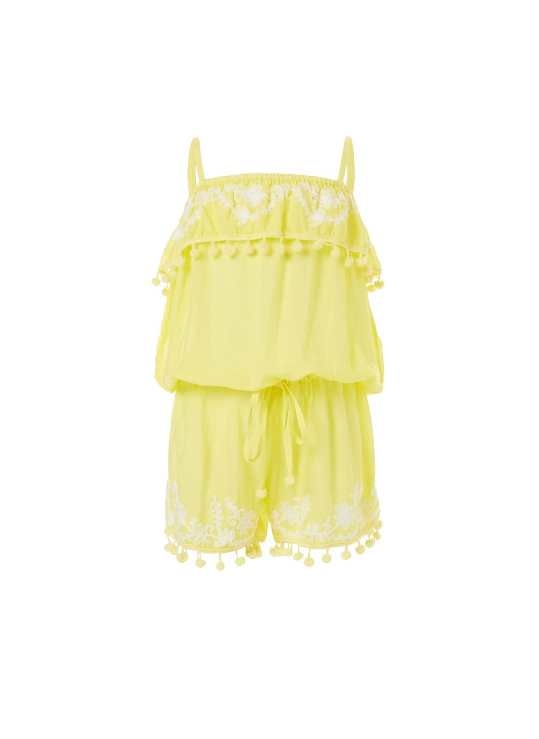baby eisha yellow white playsuit 2019
