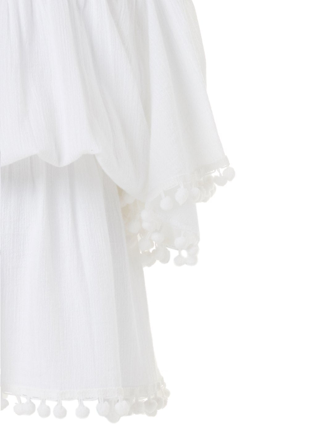 Baby Michelle White Off the Shoulder Beach Dress