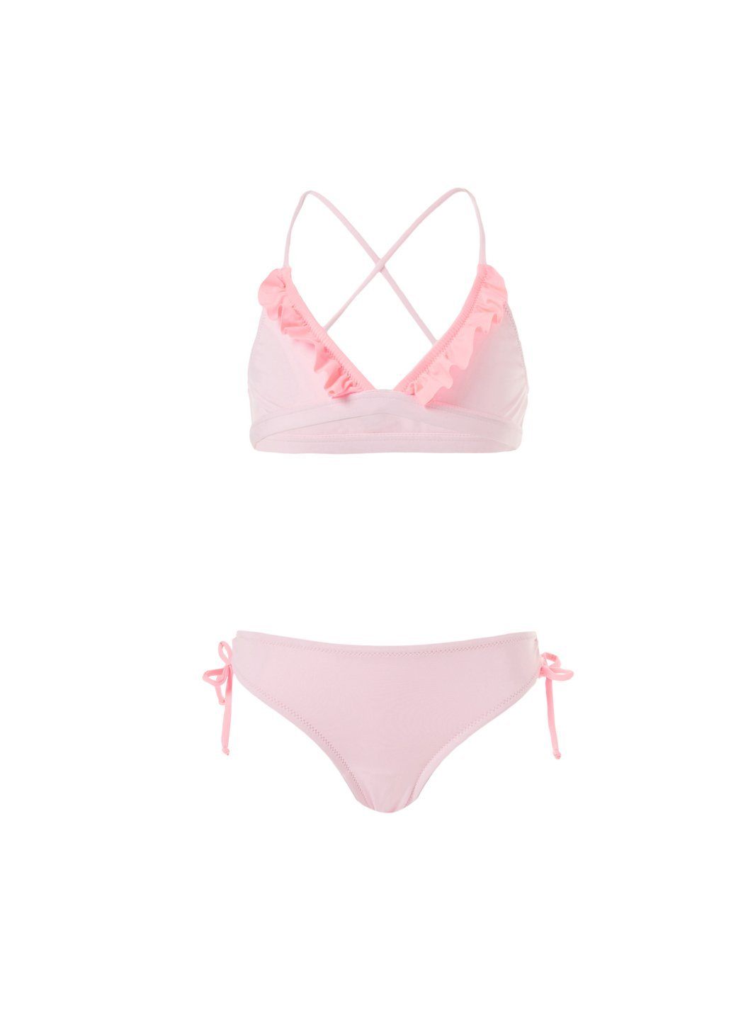 baby new york pale pink neon triangle bikini 2019
