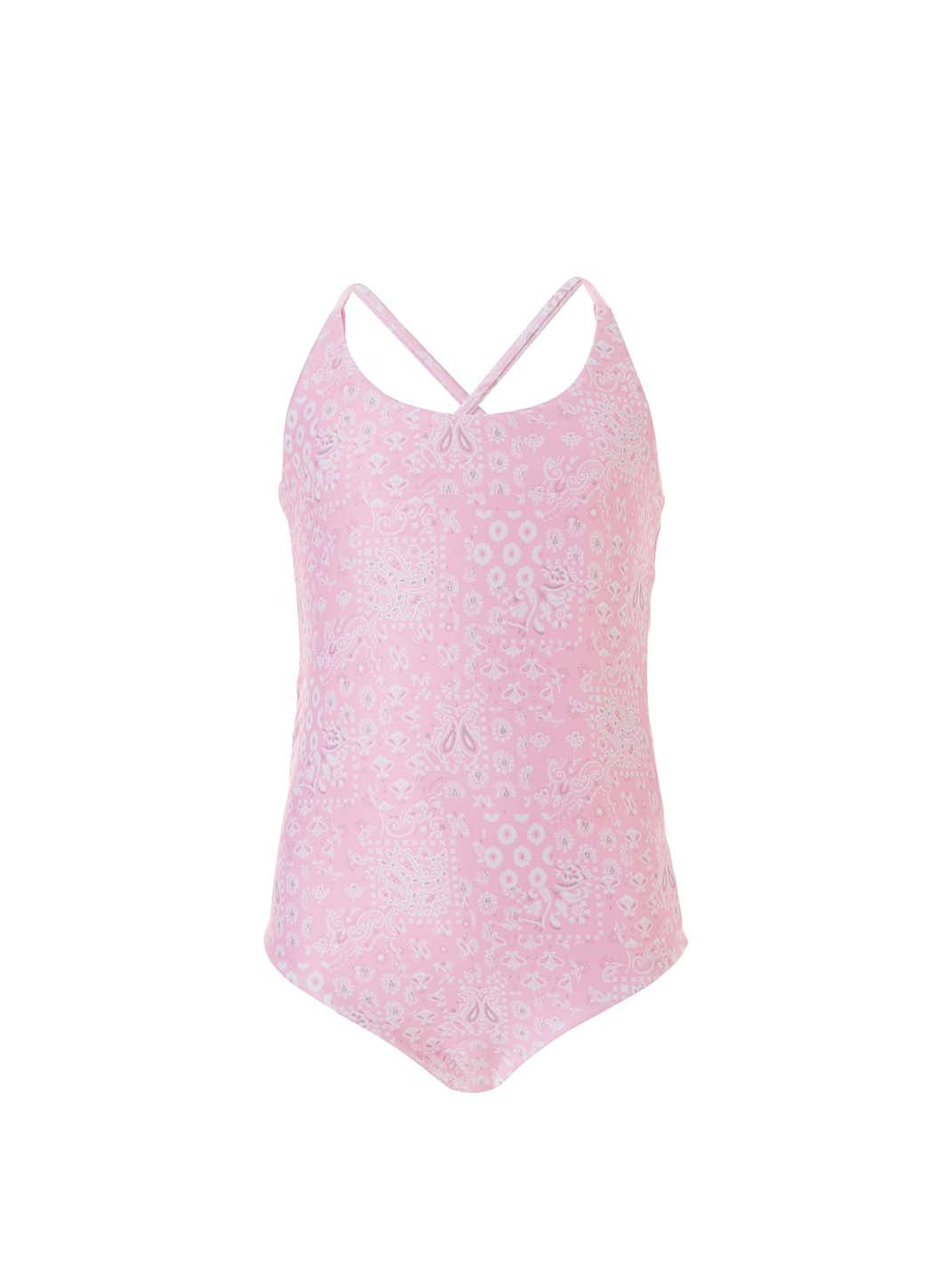 Baby Vicky Pink Paisley/Pink Reversible Swimsuit