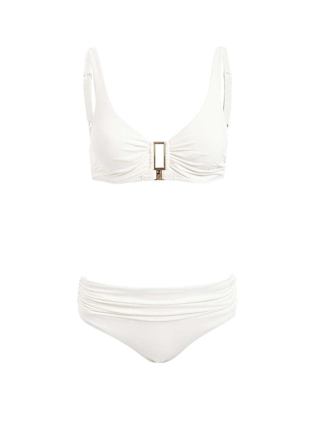 Belair Cream Over The Shoulder Supportive Bikini