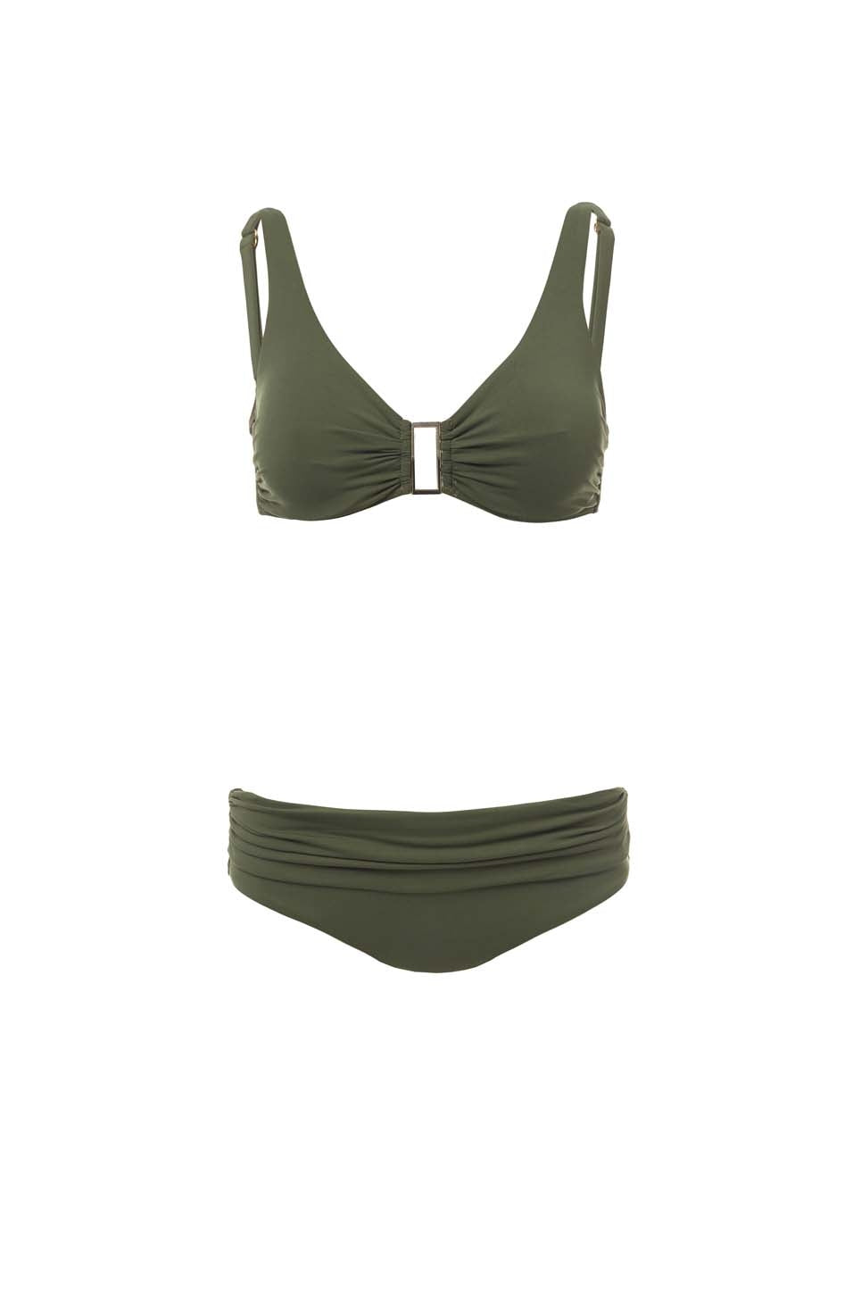 Belair Khaki Over The Shoulder Supportive Bikini