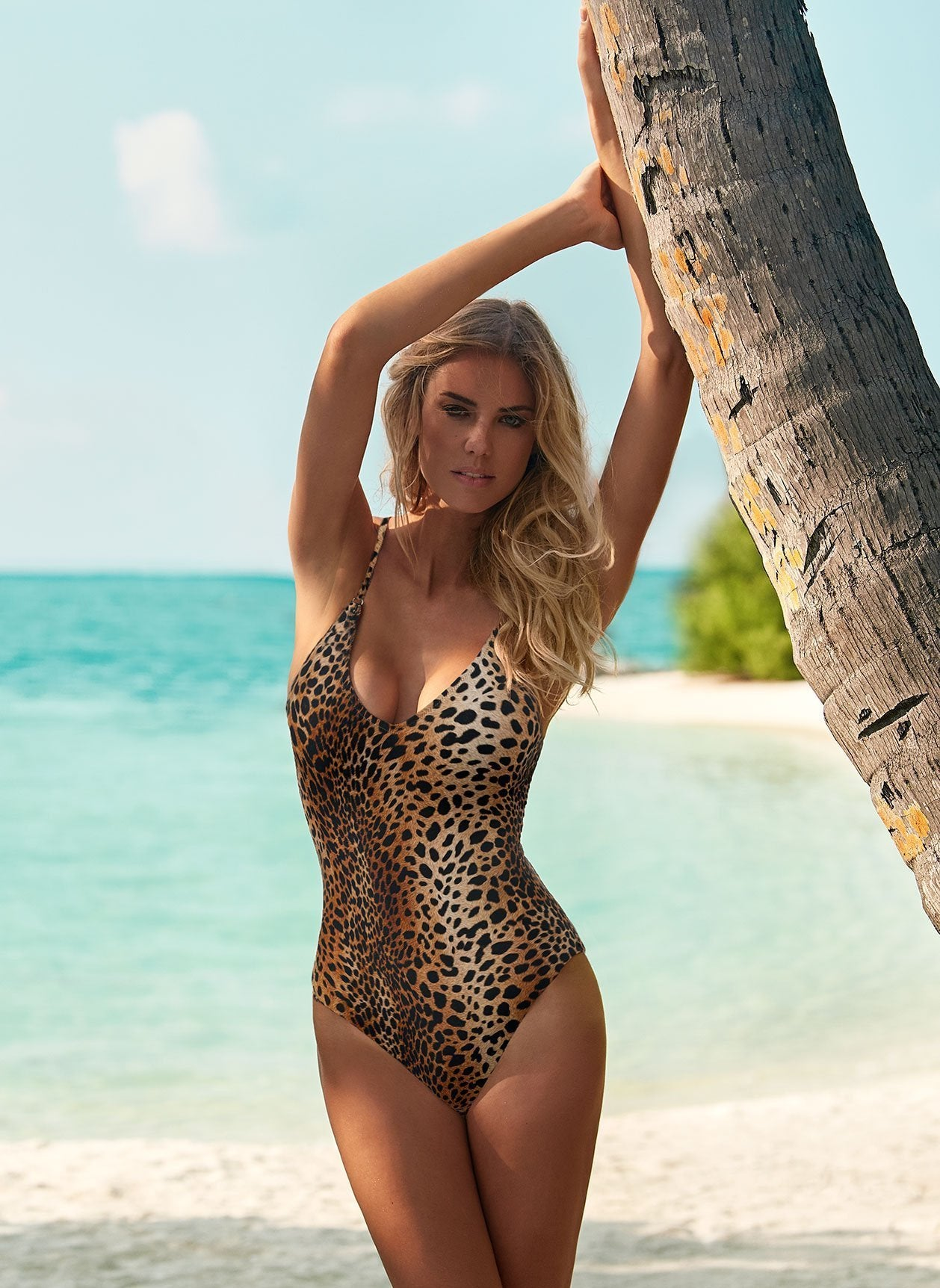 Bora Bora Cheetah Print Swimsuit Lifestyle