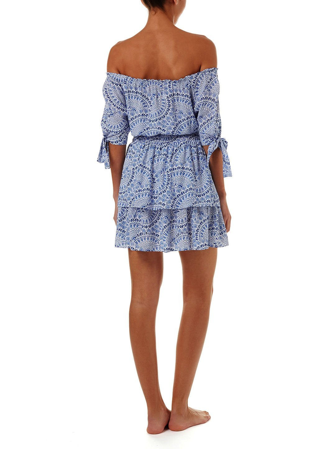 camilla blue fan offtheshoulder short dress 2019 B