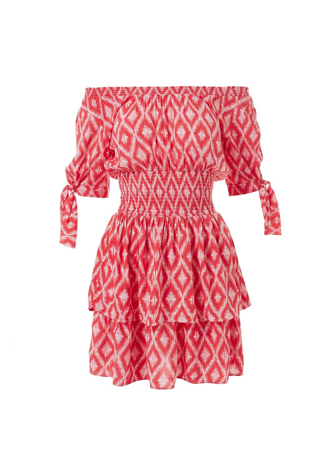 camilla red ikat offtheshoulder short dress 2019