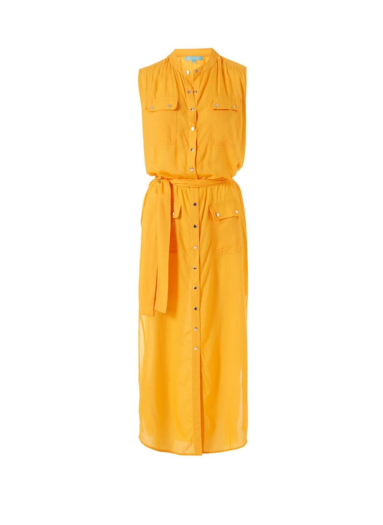 charlene apricot long shirt dress