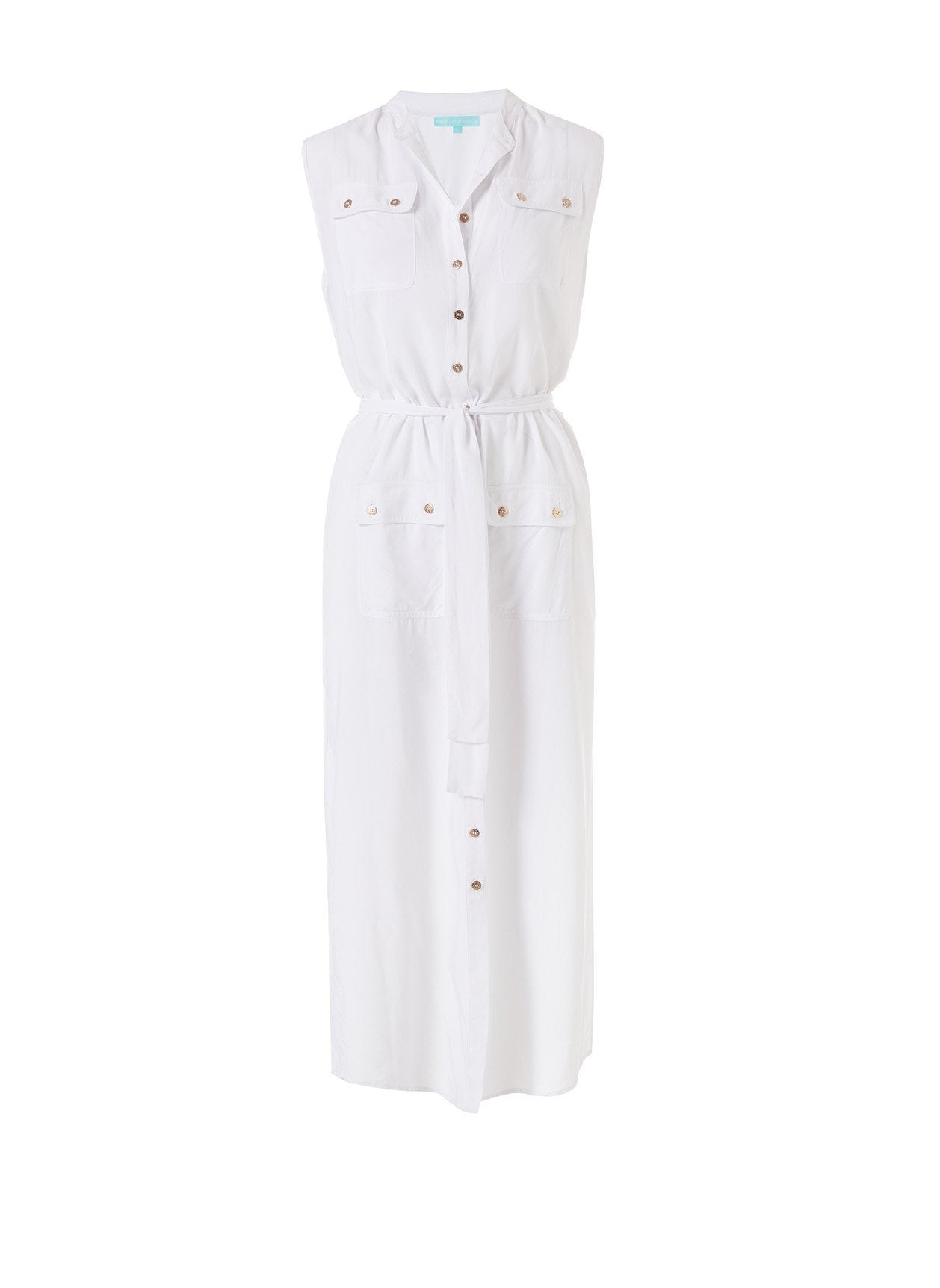 charlene white long shirt dress