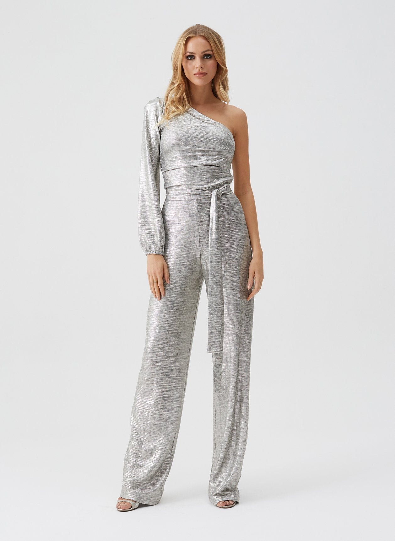Charlie Gold Asymmetrical Jumpsuit