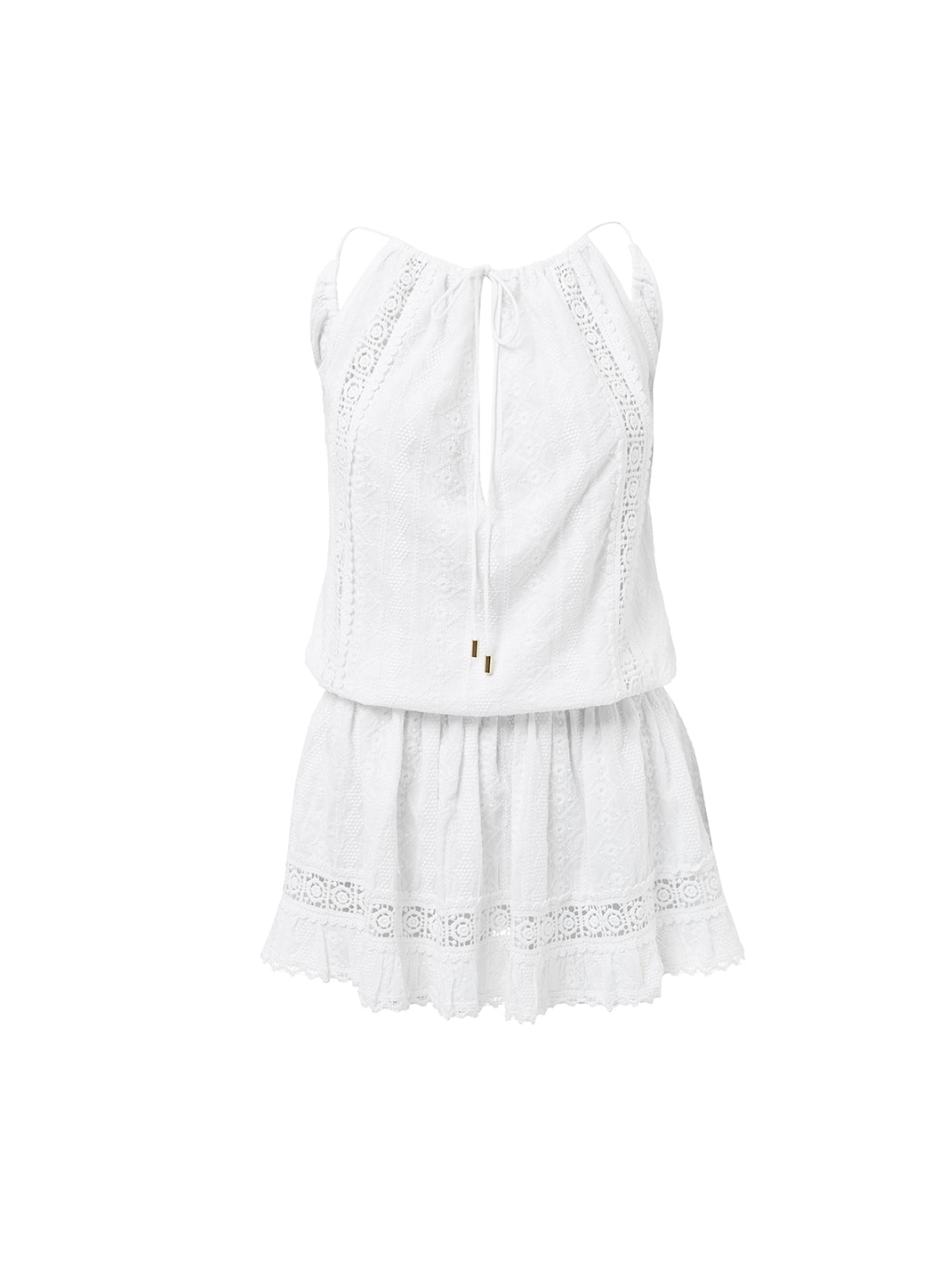 Chelsea White Open Back Short Beach Dress