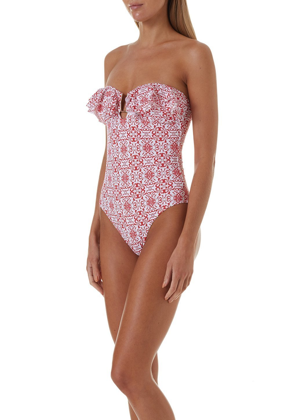 corfu amalfi red swimsuit