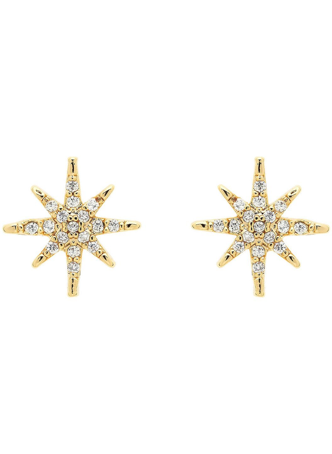 Gold Crystal Star Earrings