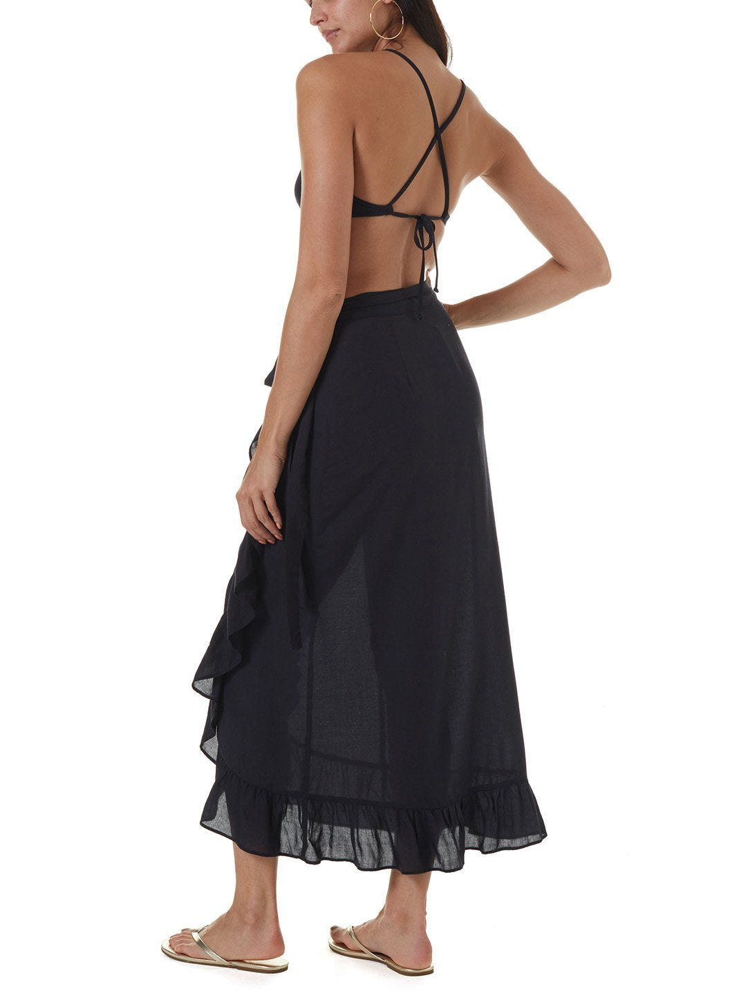 danni black long skirt