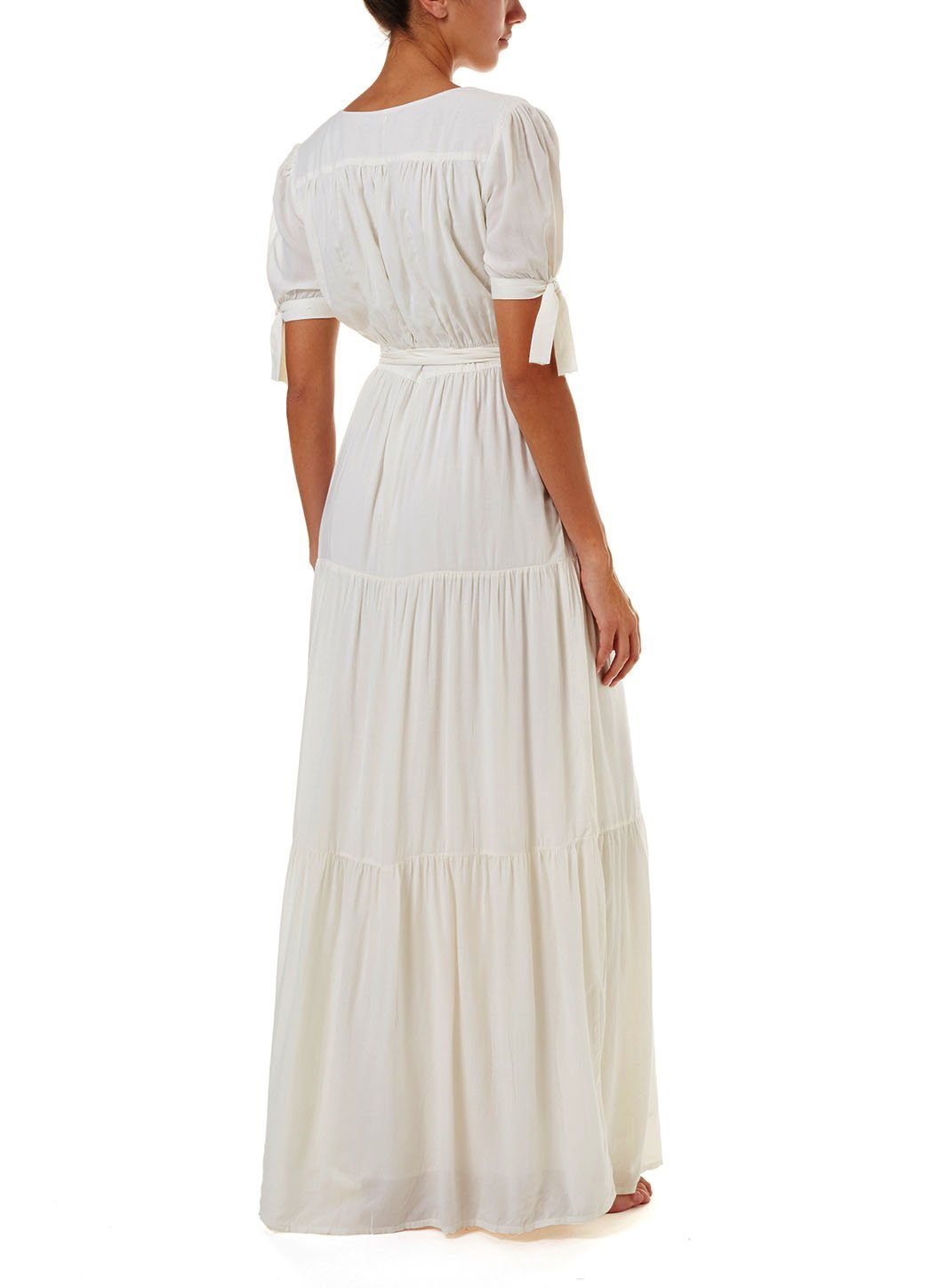 emily cream maxi wrap dress 2019 B