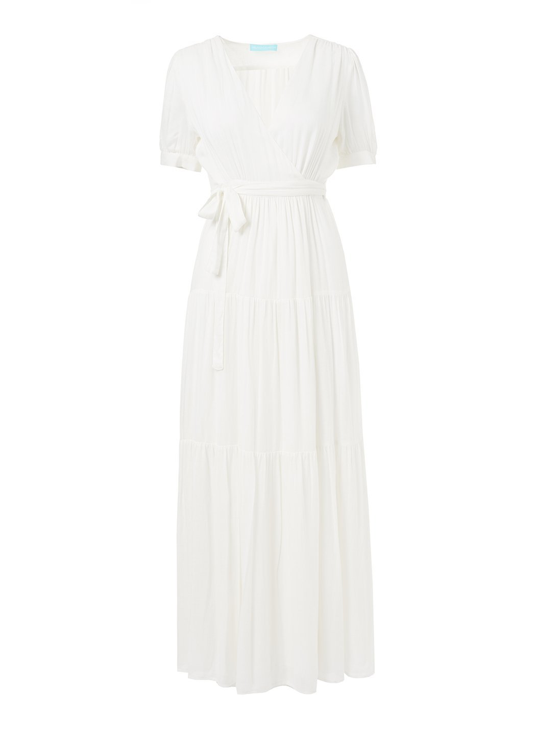 emily cream maxi wrap dress 2019