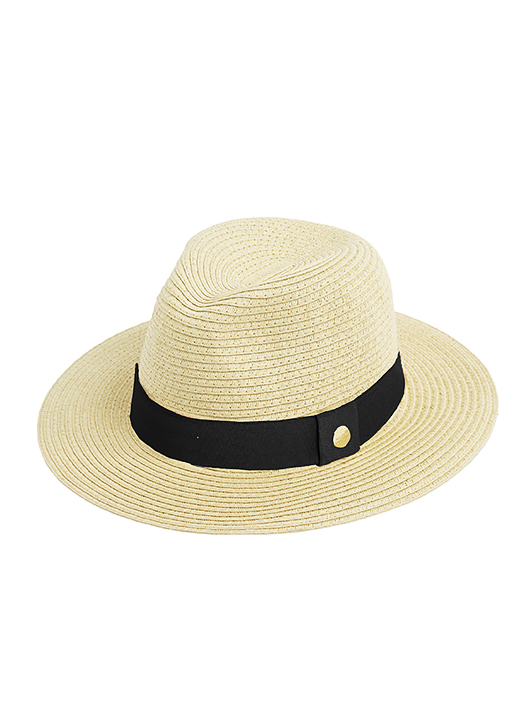Fedora Hat Beige Black