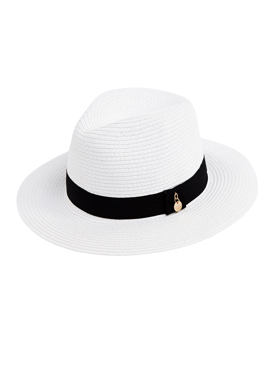 Fedora Hat White Black