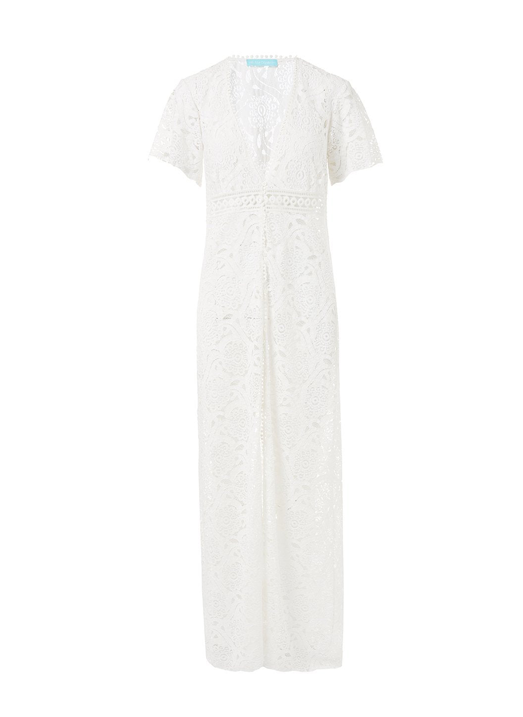 gabrielle cream embroidered lace maxi button down coverup 2019 2