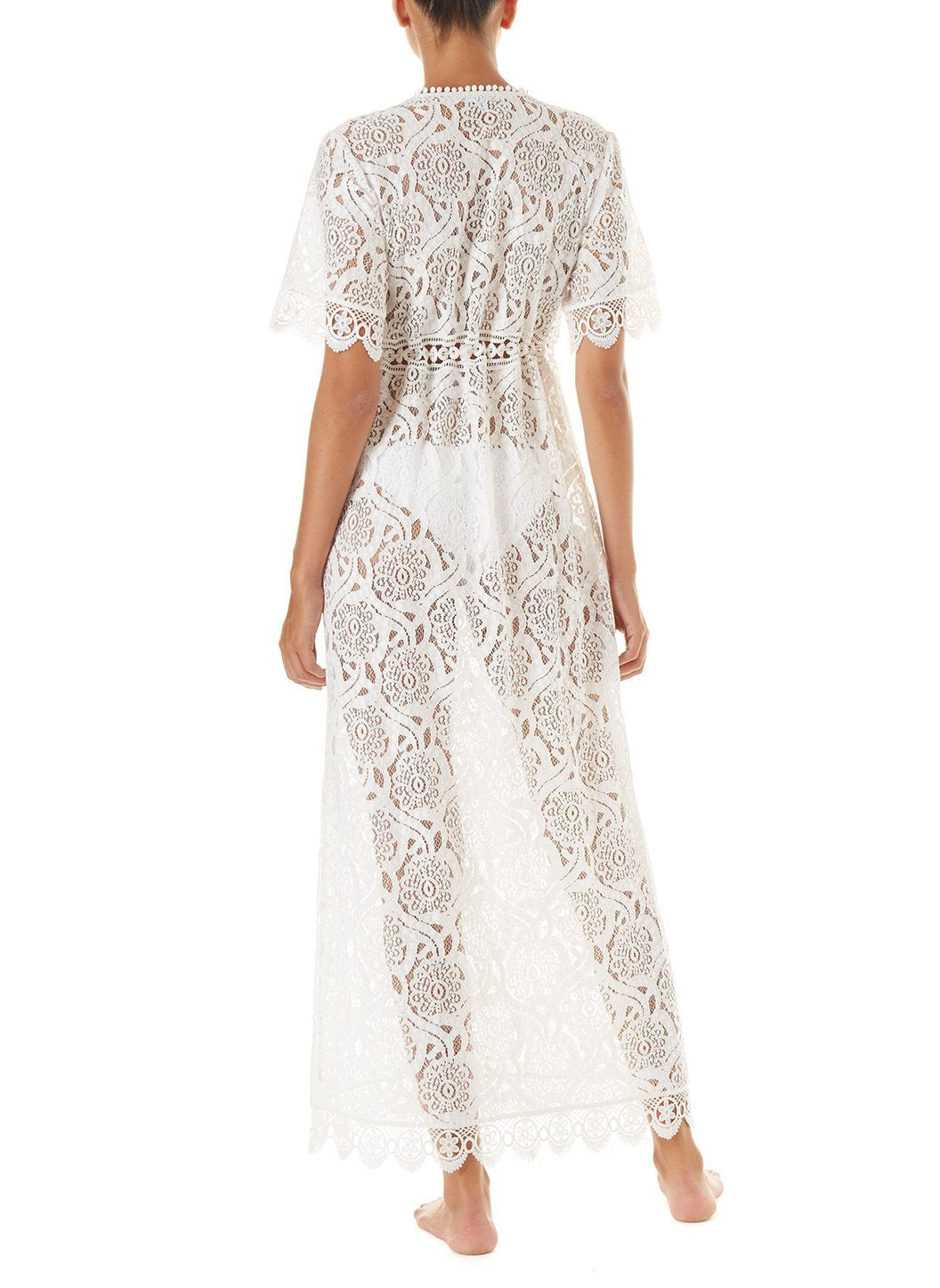 gabrielle cream embroidered lace maxi button down coverup 2019 B