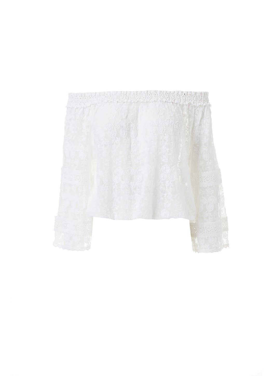 gia white textured offtheshoulder top 2019