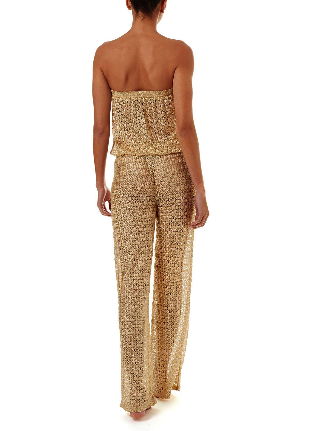 grace gold knit bandeau jumpsuit 2019 B