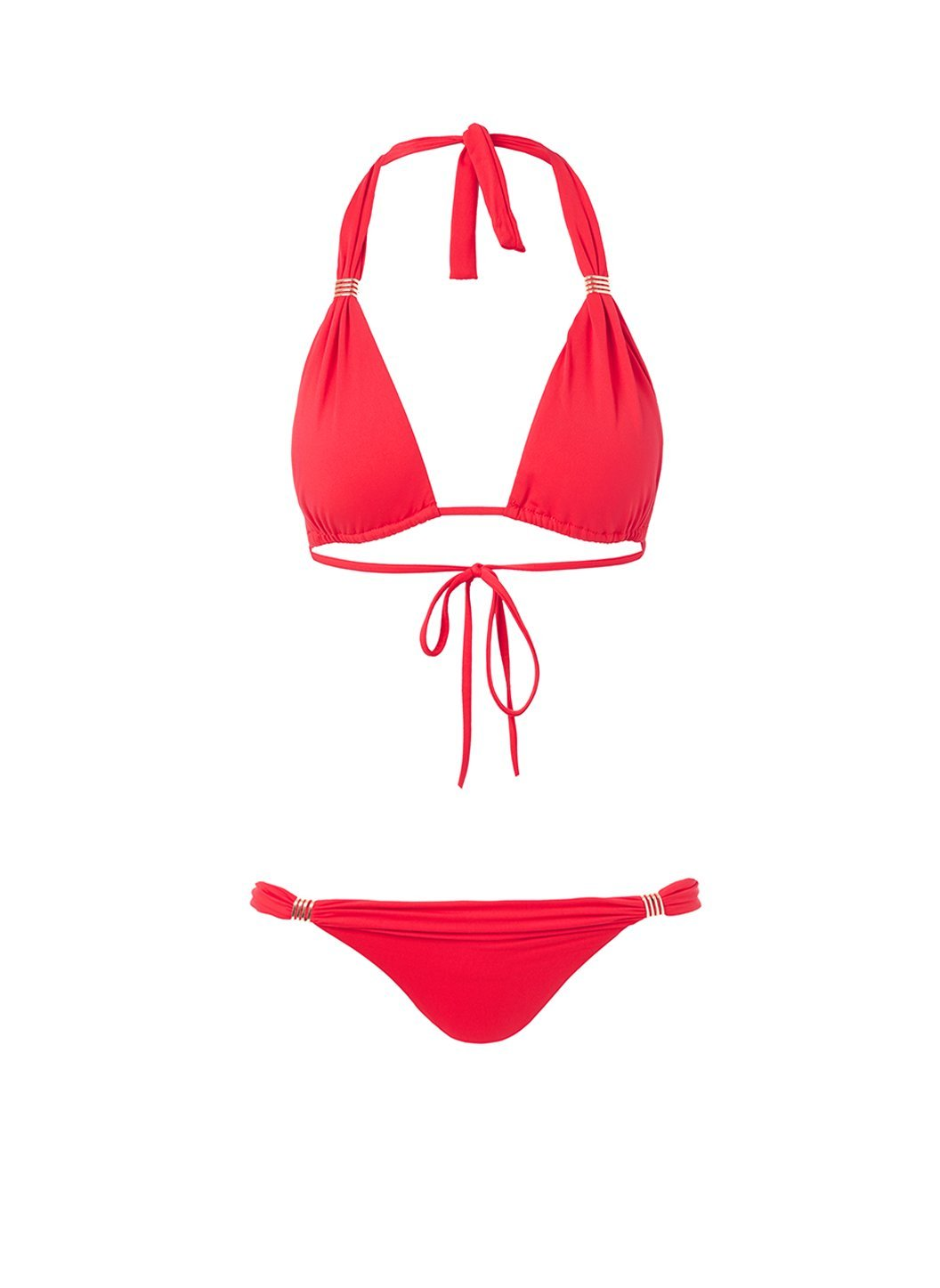 grenada red adjustable halterneck bikini 2019
