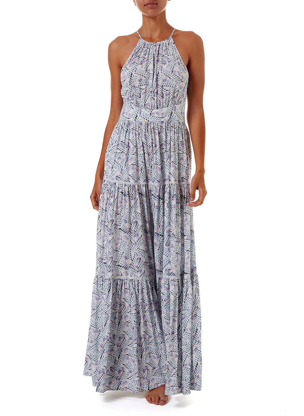 isadora azari high neck maxi dress 2019 F