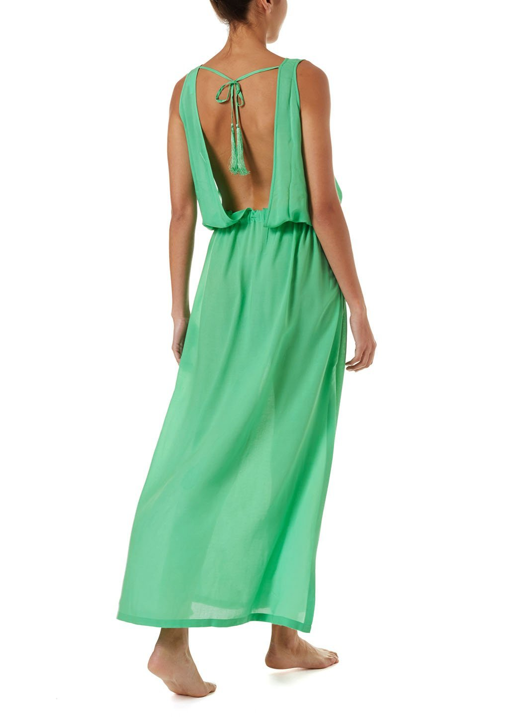 jacquie green laceup belted maxi dress 2019 B