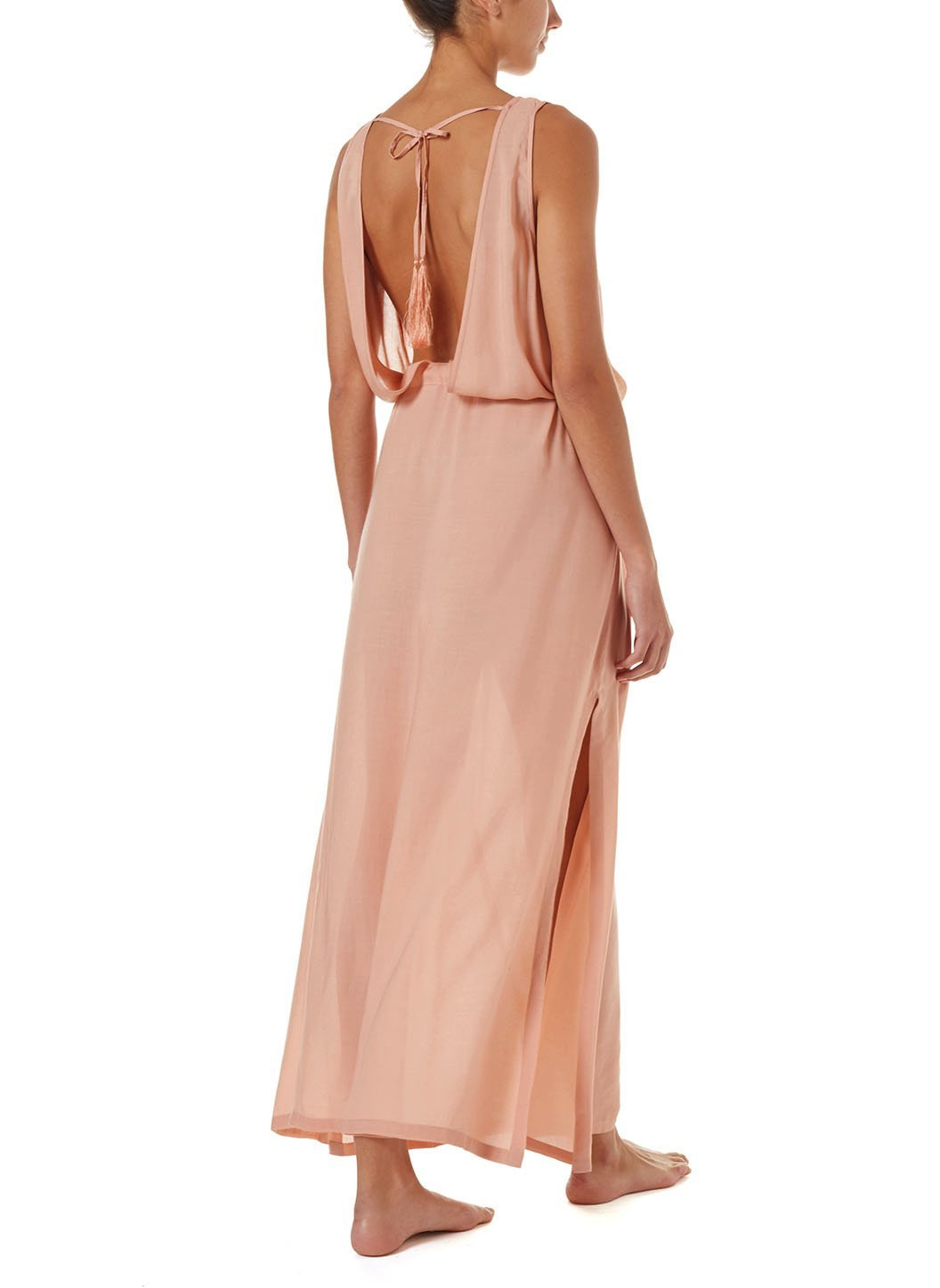 jacquie tan laceup belted maxi dress 2019 B