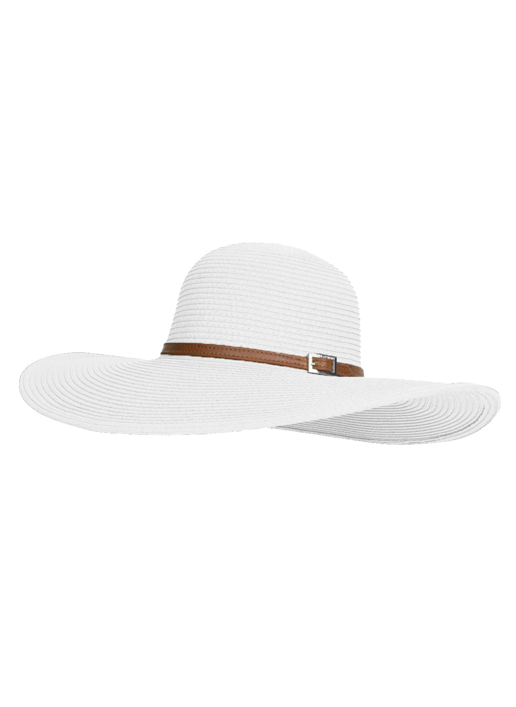 Jemima Wide Brim Beach Hat White