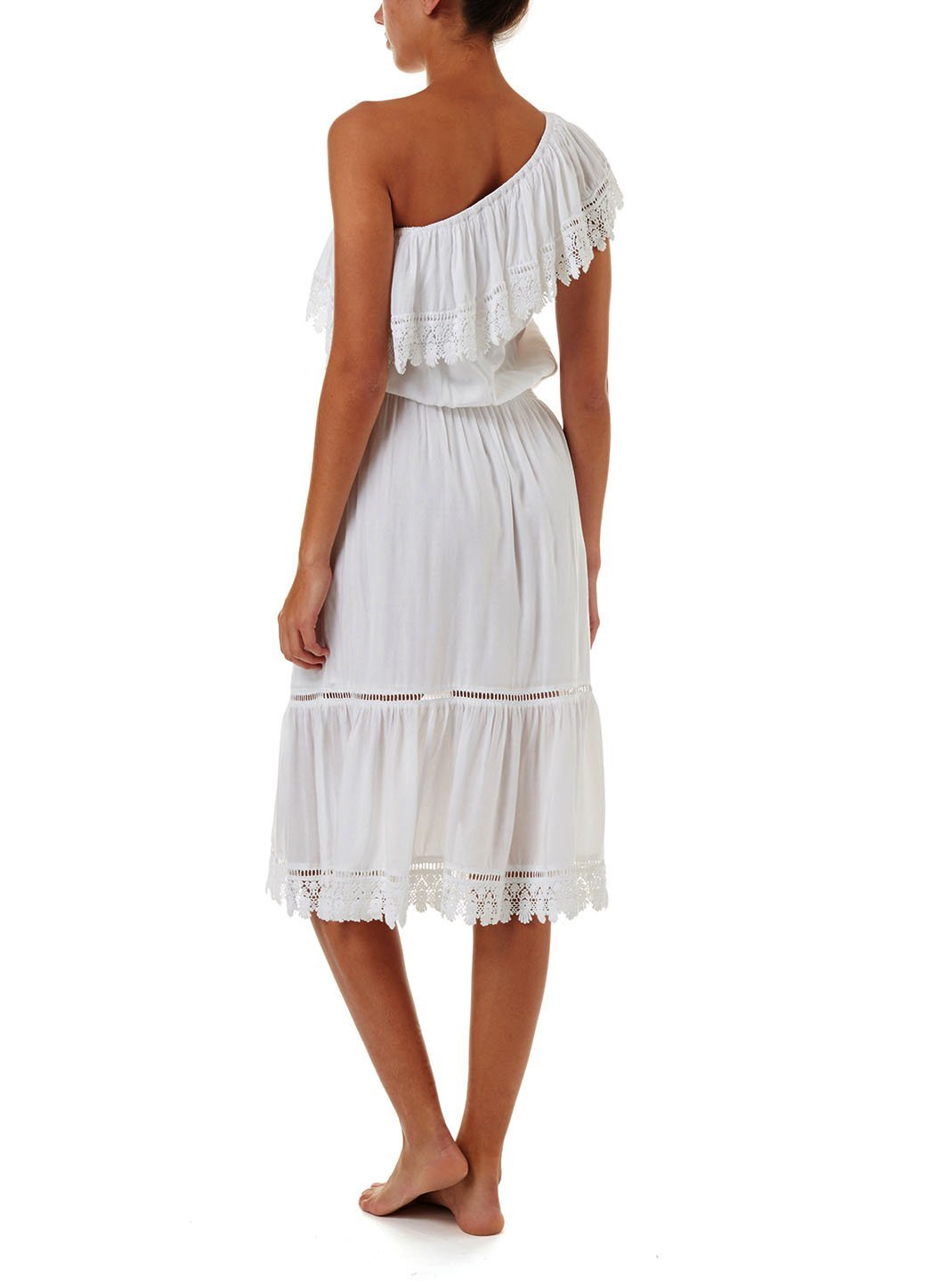 jo white oneshoulder embroidered frill midi dress 201 B