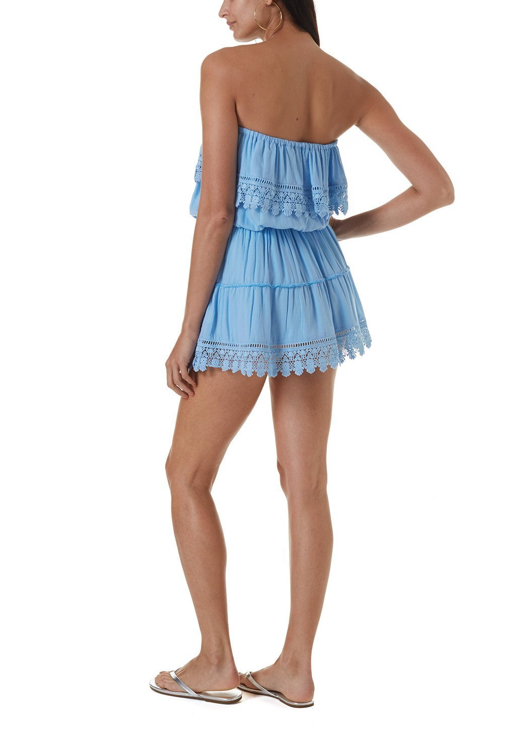 joy cornflower short dress