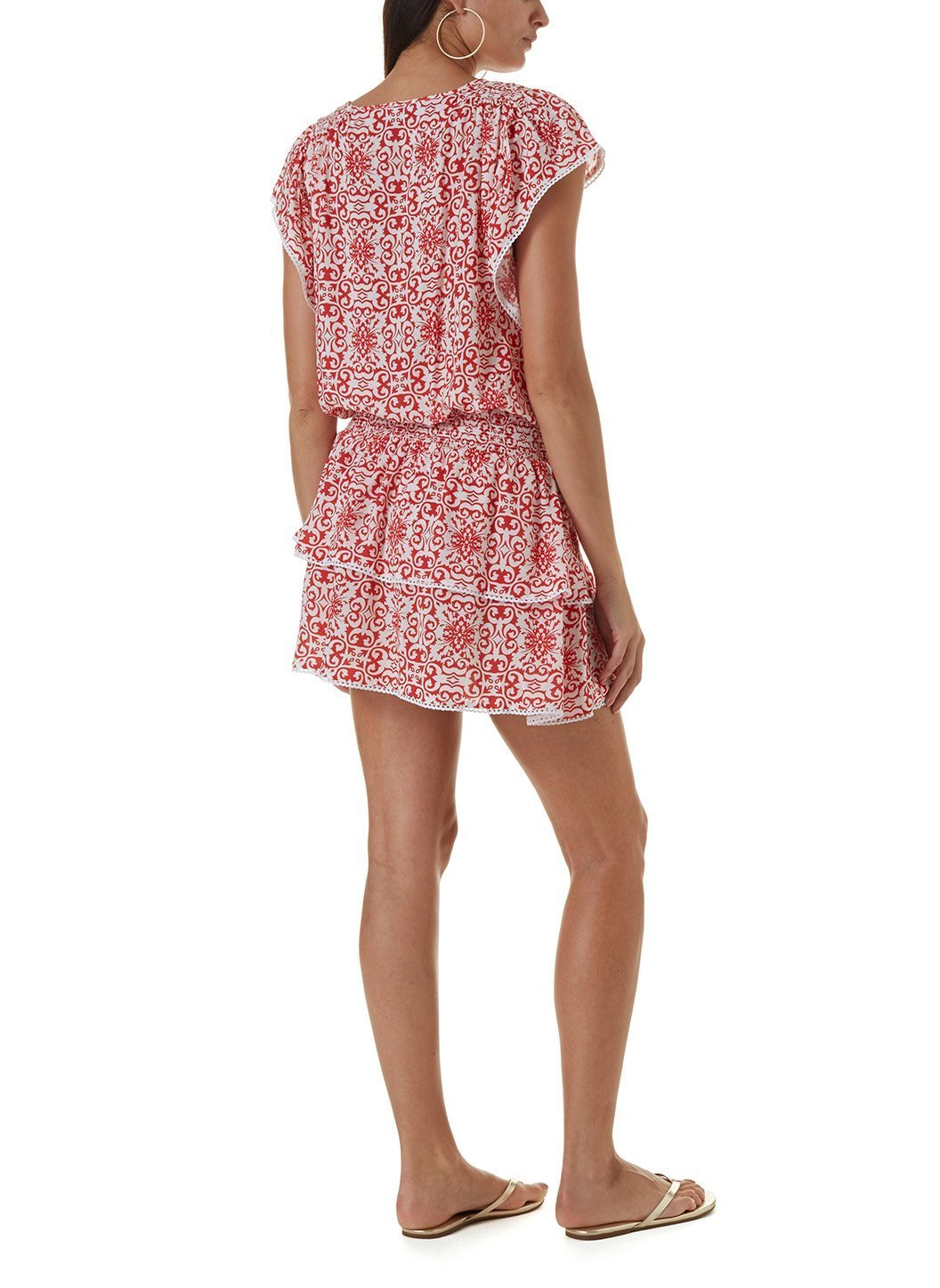 keri amalfi red short kaftan