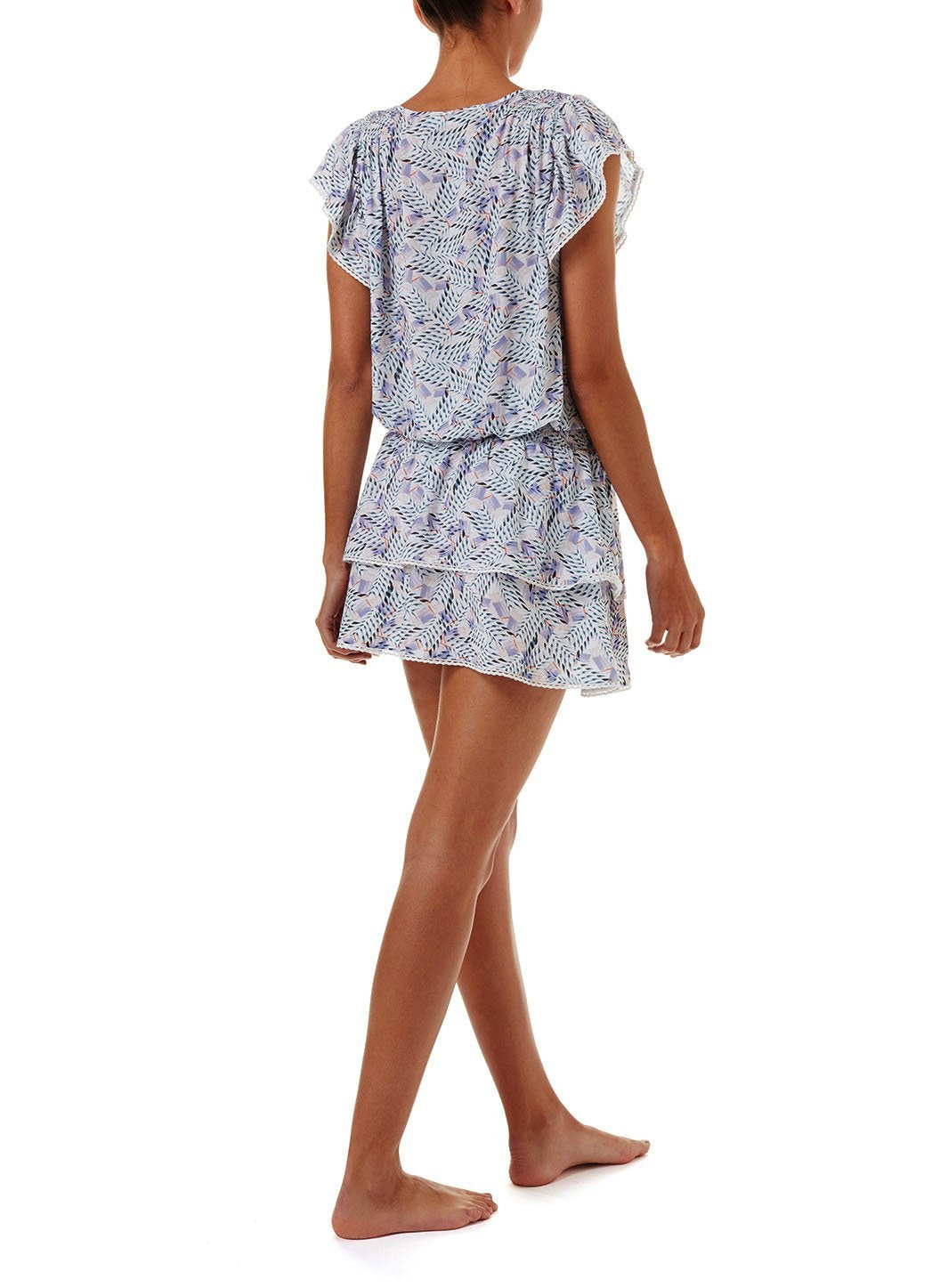 keri azari short frill beach dress 2019 B