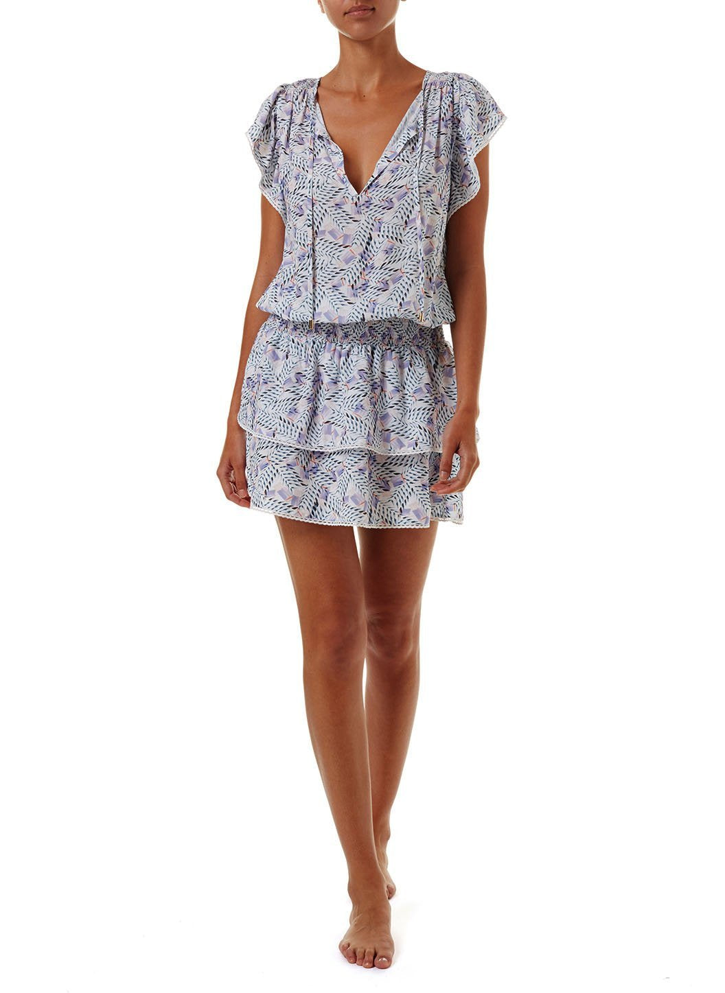 keri azari short frill beach dress 2019 F
