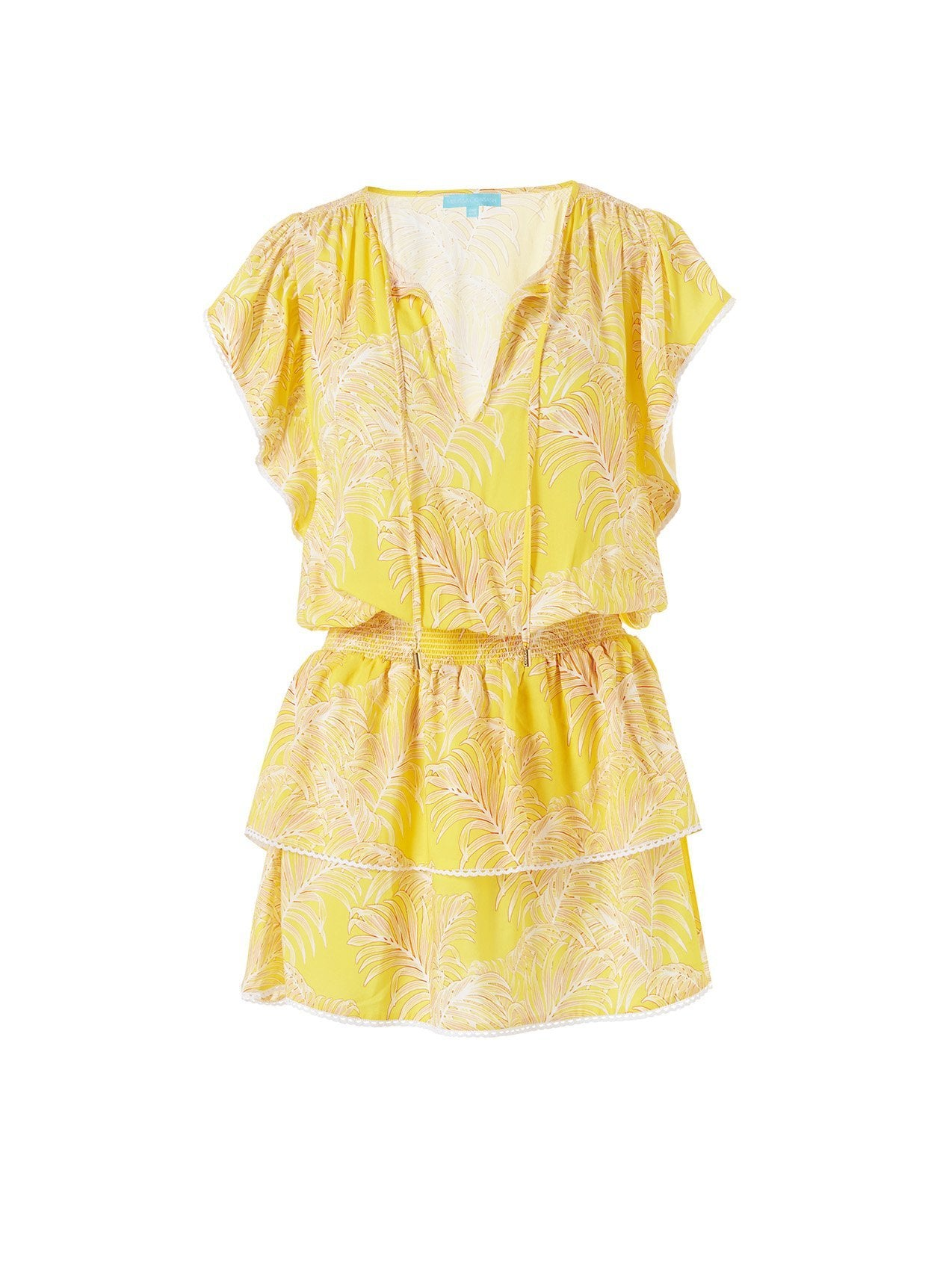keri tropical yellow short dress