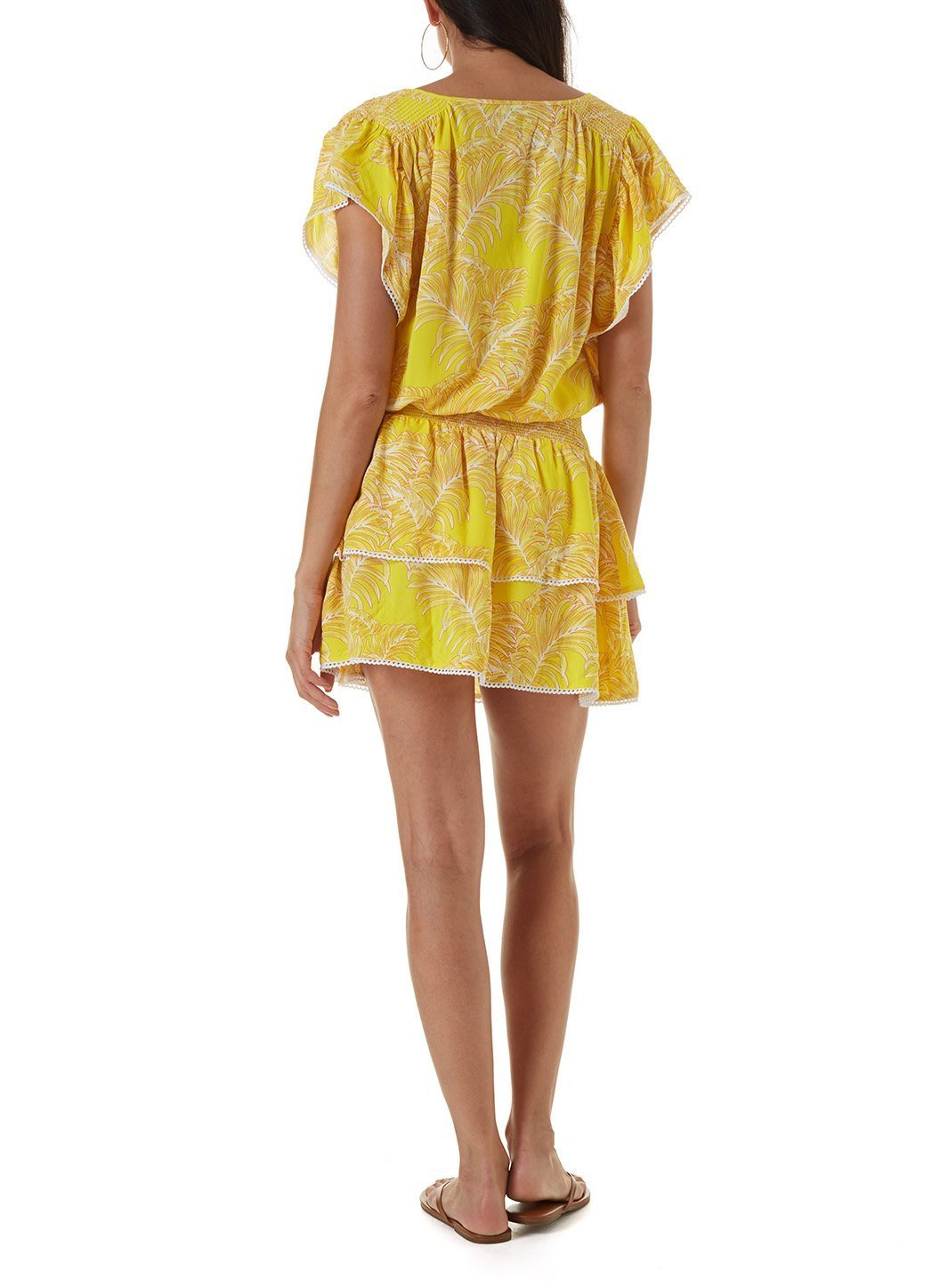 keri tropical yellow short kaftan
