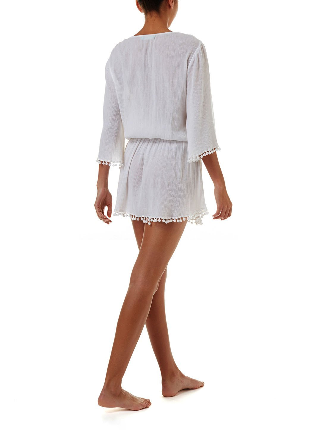kiah white laceup embroidered short dress 2019 B