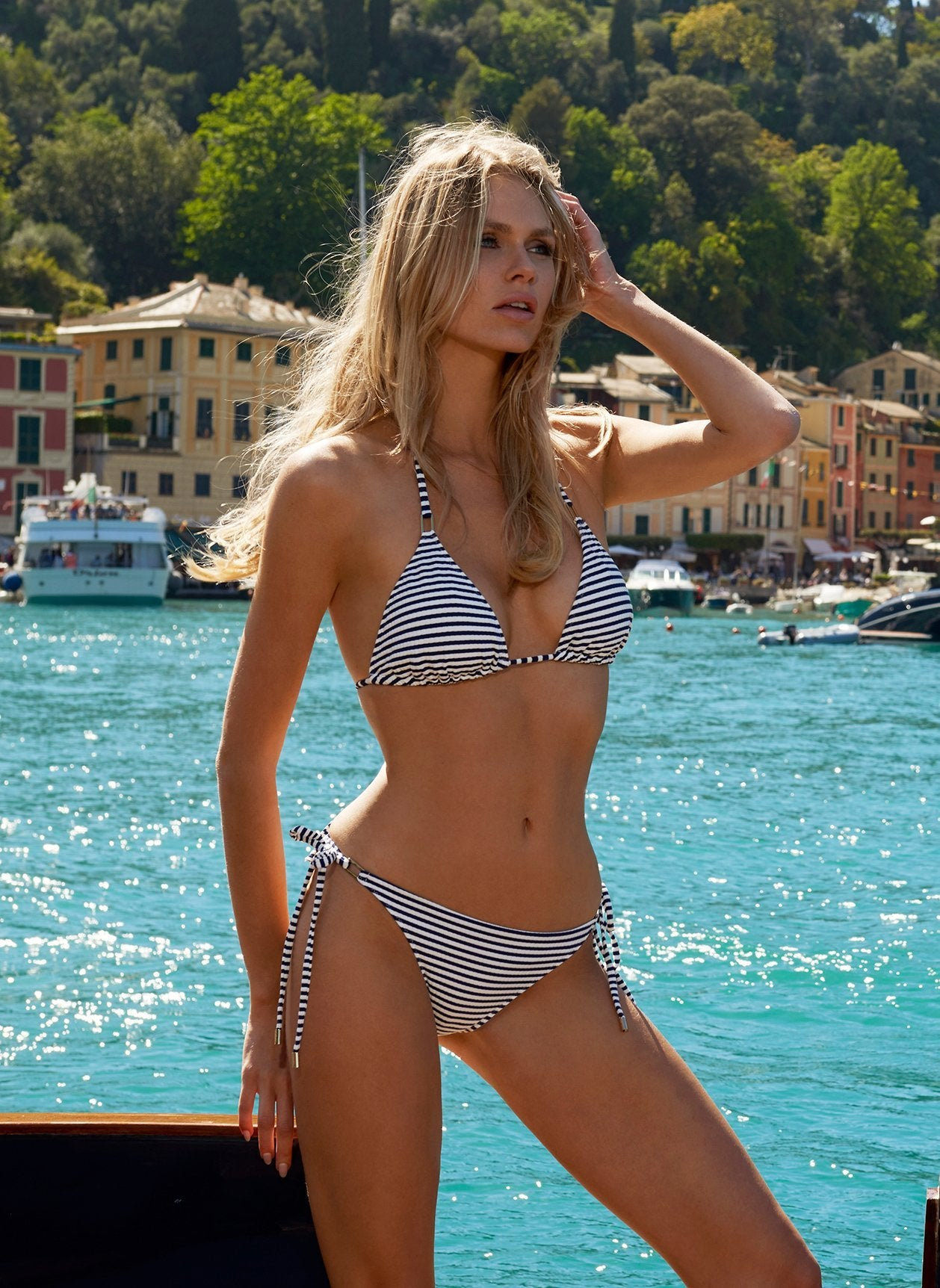 cancun bikini nautical navy
