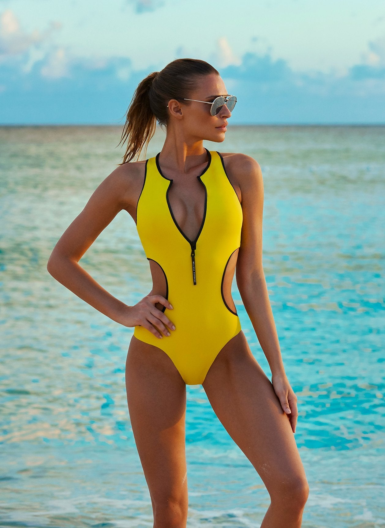 florida yellow swimsuit