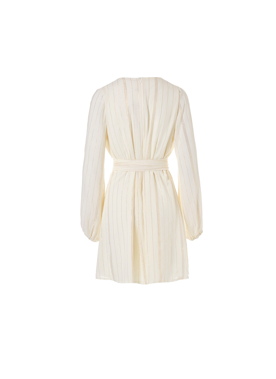 Look 1 Blouson Sleeve Mini Dress Cream