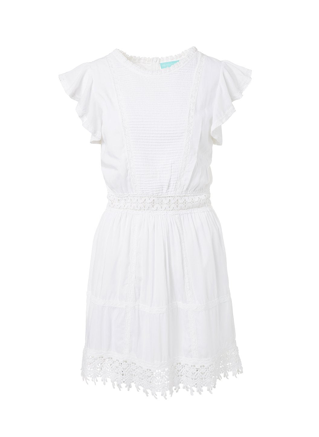 loretta white highneck short tea dress 2019