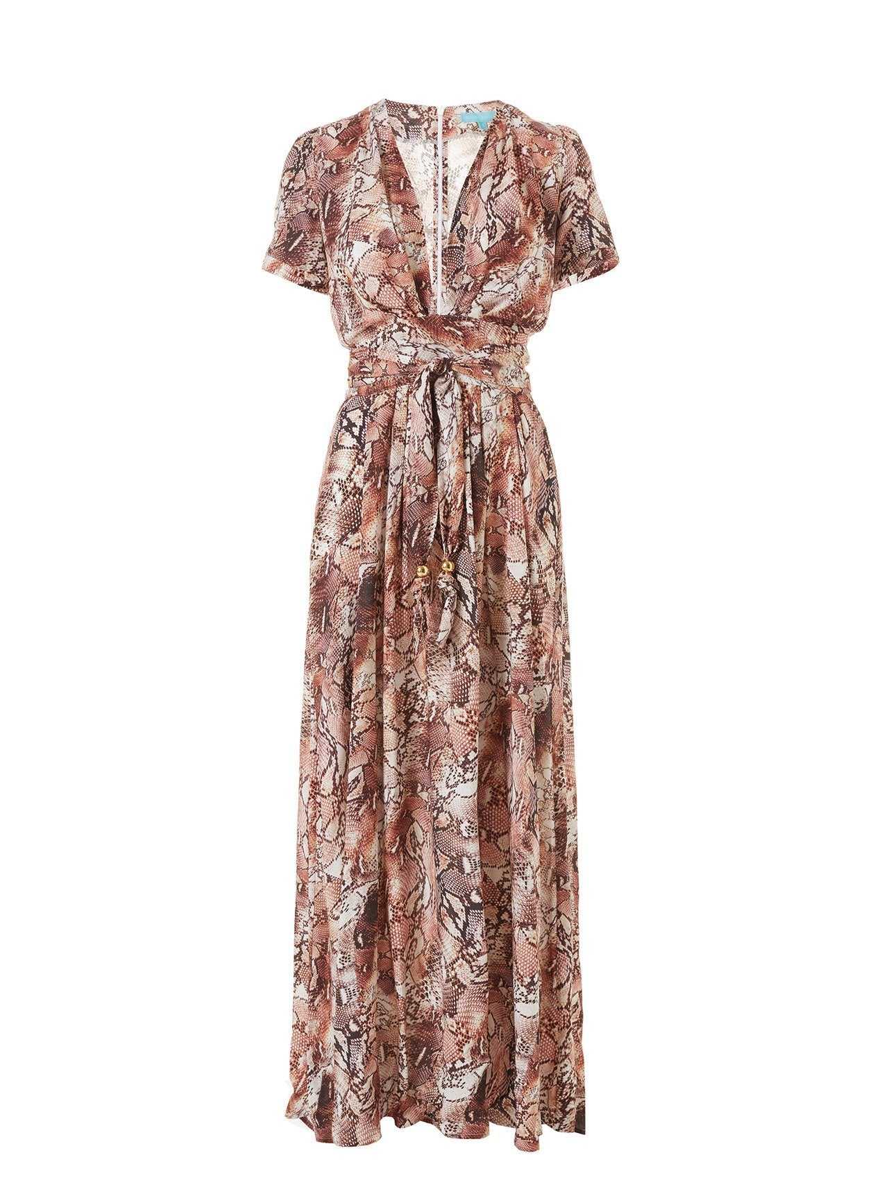 lou snake long dress