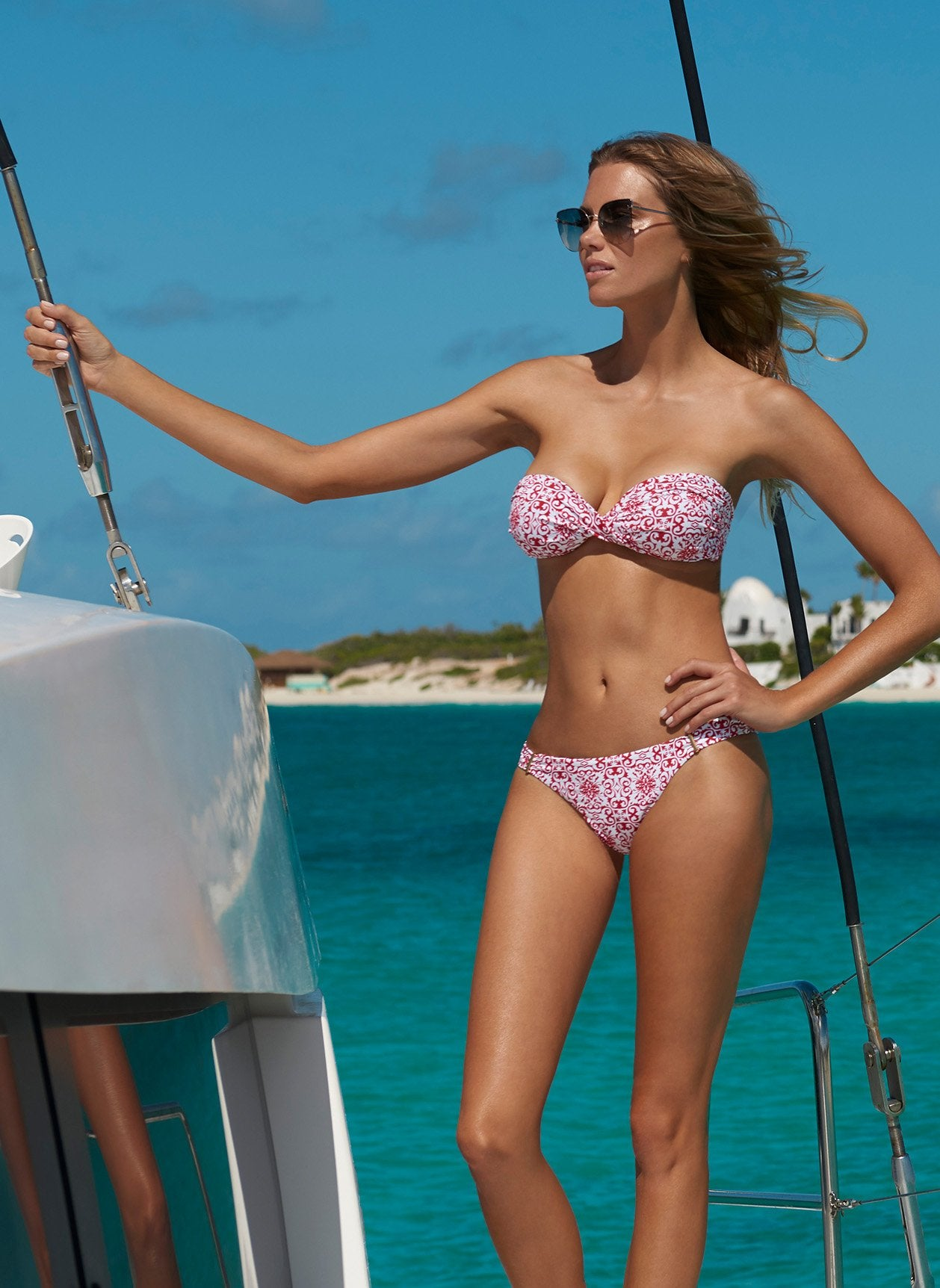 martinique bikini amalfi red