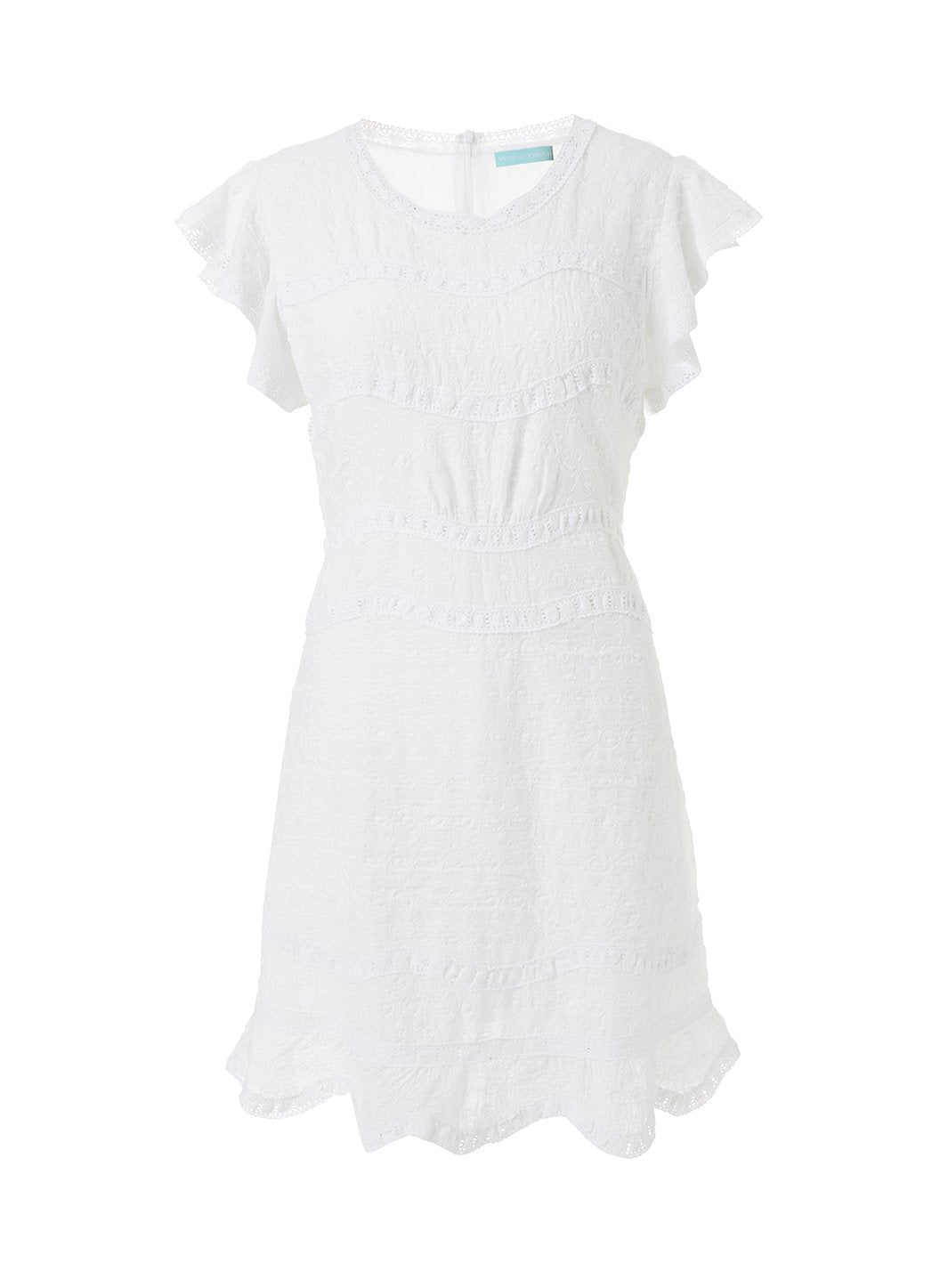 meghan white textured short tea dress 2019