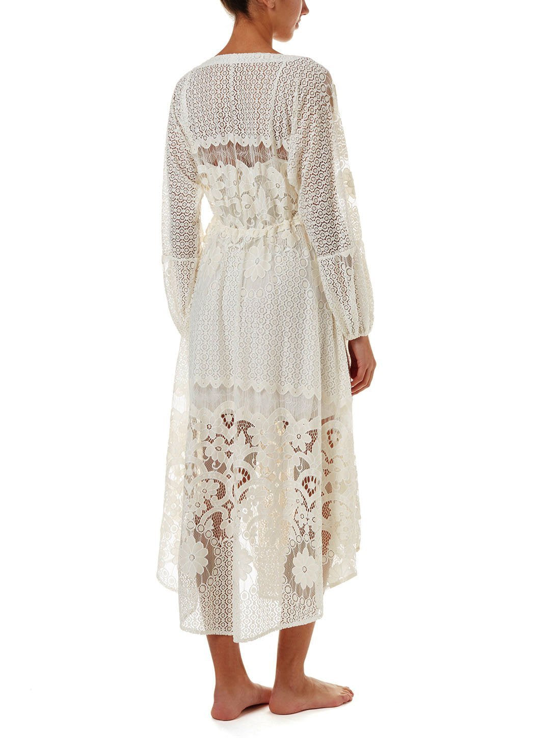 melissa cream lace tieside midi dress 2019 B