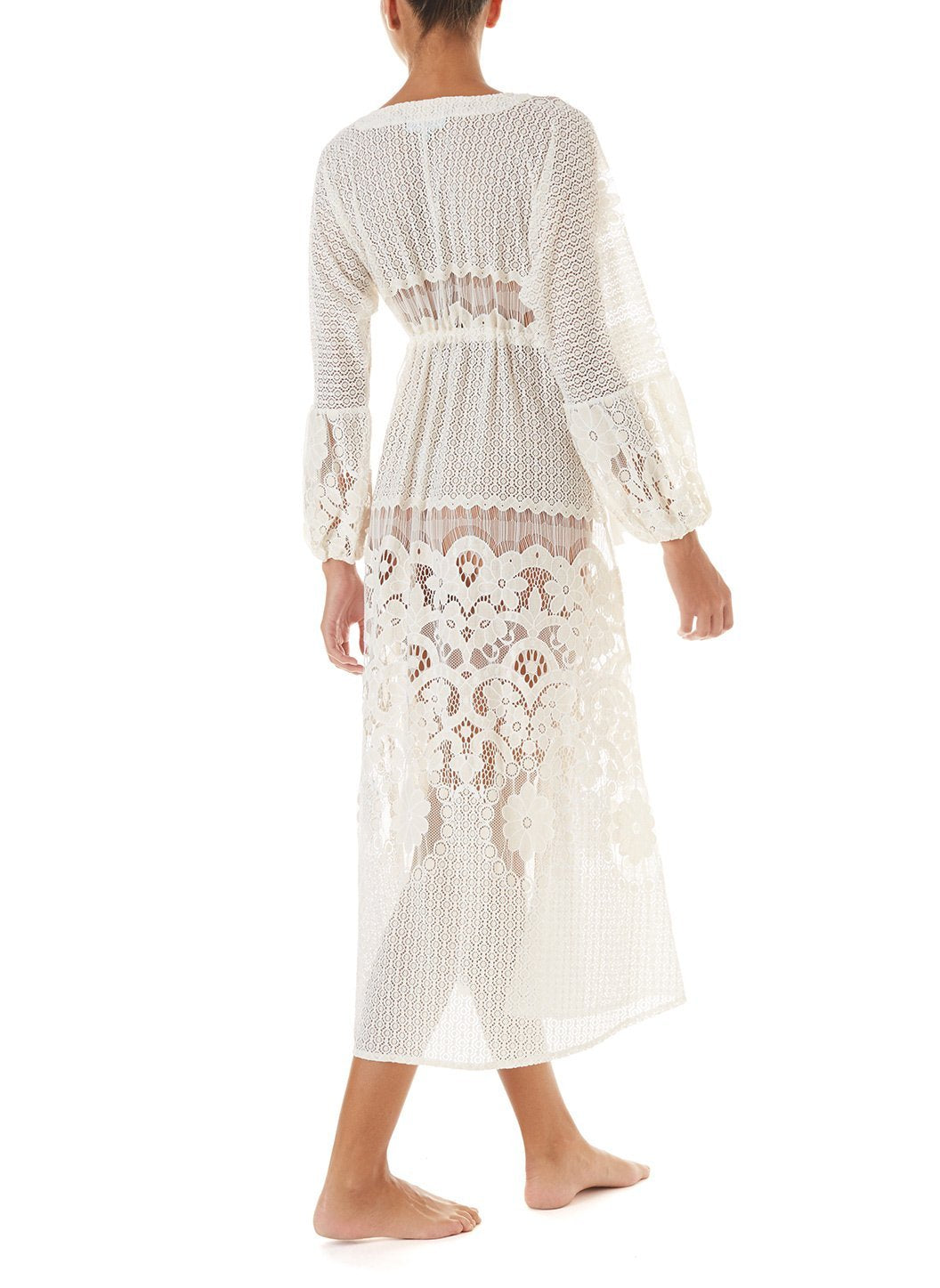 melissa cream lace tieside midi dress 2019 B_2