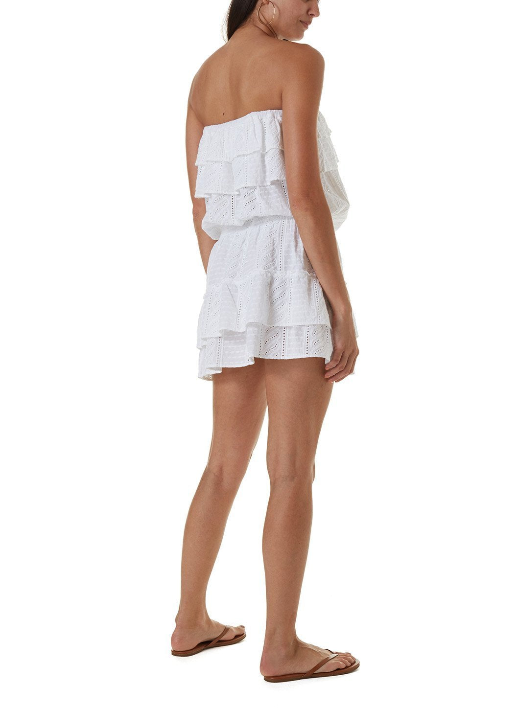 mia white short dress
