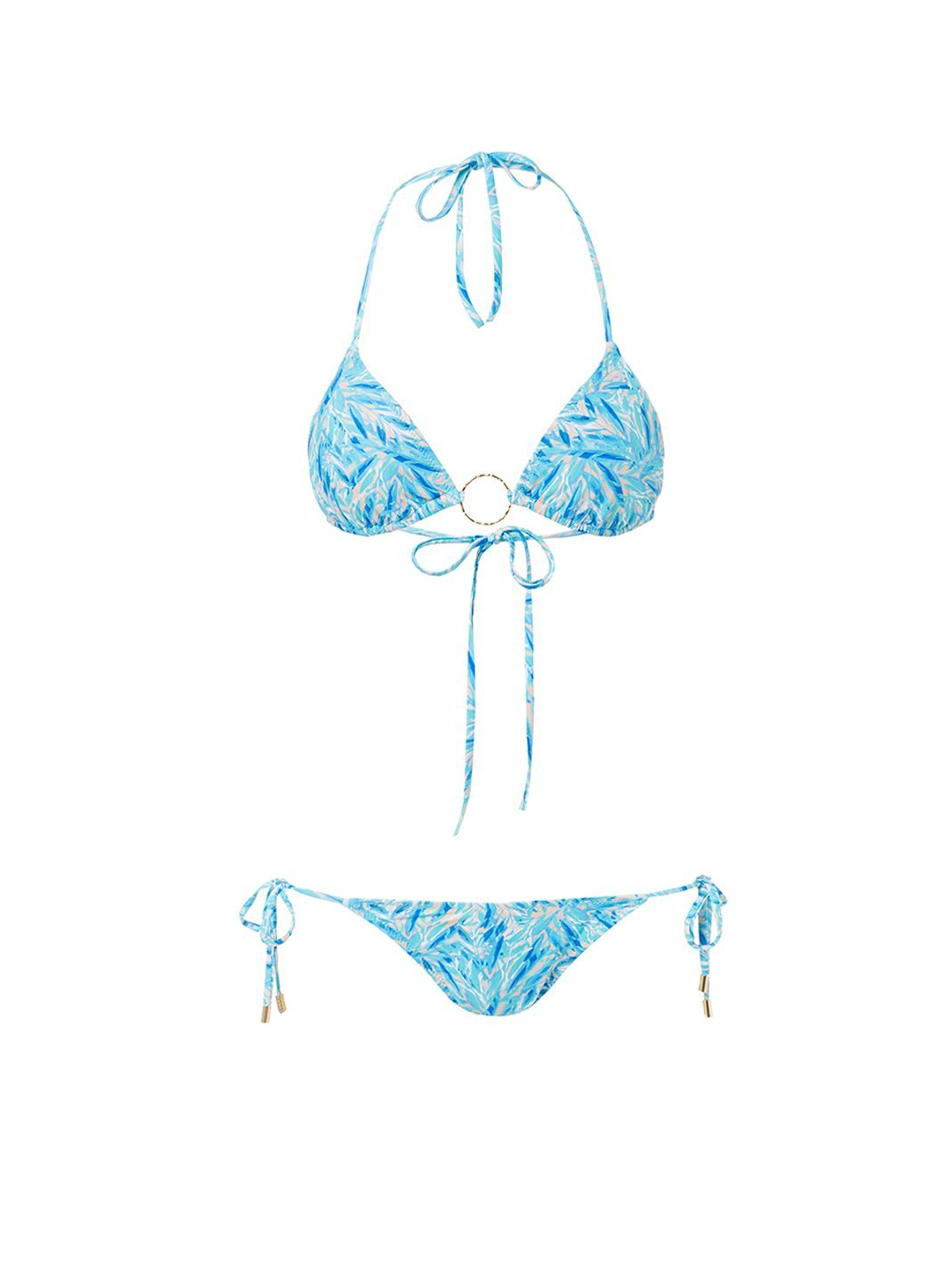 miami blue leaf triangle ring bikini 2019