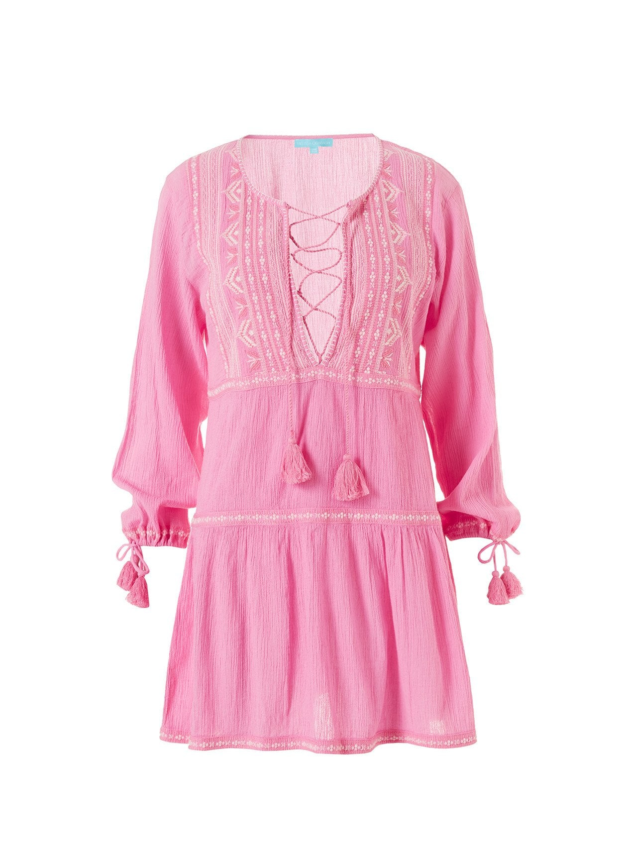 millie rose pink short kaftan